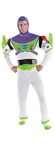 Deluxe Buzz Lightyear Costume - X-Large - Chest Size 42-46 (Buzz Lightyear Fancy Dress Adult)