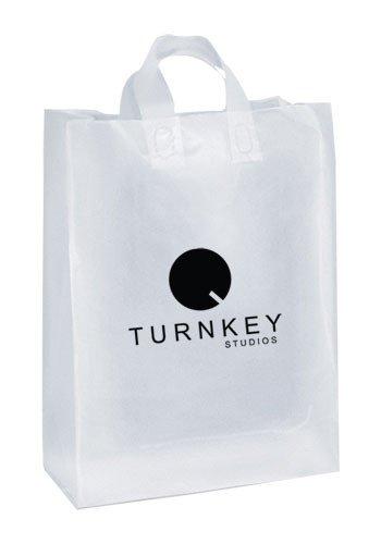 custom plastic bags 150 frosted clear - Custom Plastic Bags