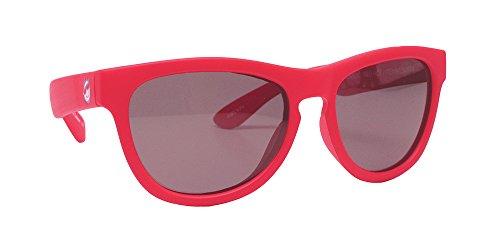 Minishades Polarized Classic Kids Sunglasses, Red Hot Frame/Polarized Grey - Baby Ray Sunglasses Bans