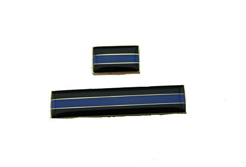 (Thin Blue Line Cop Tie Tack Hat Citation Mourning Badge TBL Pins)