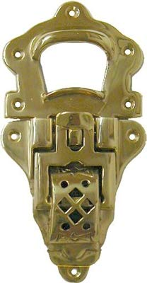 Cast Brass Large Toggle Trunk Drawbolt Closure Clasp Latch | Lock for Chest Suitcase, Steamer Trunk, Case | Hardware for Antique or Modern Furniture + Free Bonus (Skeleton Key Badge) | B-3990 (6) by UNIQANTIQ HARDWARE SUPPLY (Image #2)