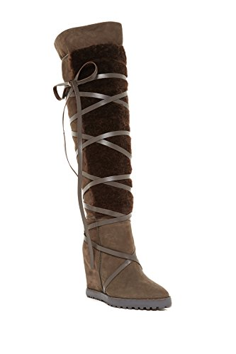 Murgröna Kirzhner Wanderer Tryffel Brun Äkta Shearling Over-the-knee Boot