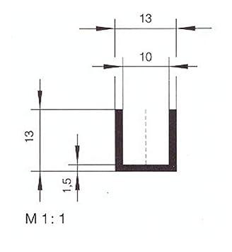 10/m eutras Protection des Bords 2308/Capacit/é Profil fp3005/Protection des Bords Joint en caoutchouc Refente de M/ètre 10,0/mm noir