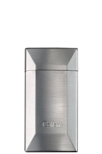 Polished Silver Colibri Lighter (Colibri Zephyr Matte Silver Polished Chrome Lighter - Colibri D10002LI)