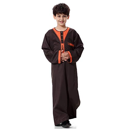 Cherokee Boys Sweater - Boys Long Sleeve Blouse Tops, Teen Loose Long Pullover Solid Color Muslim Arab Middle Eastern Robes Arab Middle Eastern Robes