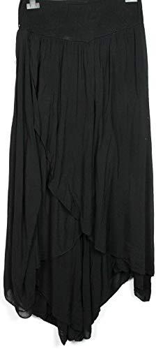 Culotte Ample Lagenlook Femme Nouvelle Boho Italienne Noir Drapée Jupe Sarouel TxEqSw06