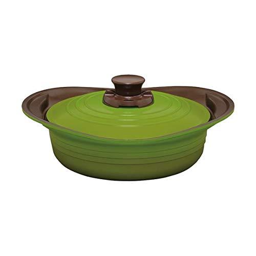 無加水鍋24cm浅型 グリーン C9180567 生活用品 インテリア 雑貨 キッチン 食器 鍋 圧力鍋 14067381 [並行輸入品]   B07SHJFSFV