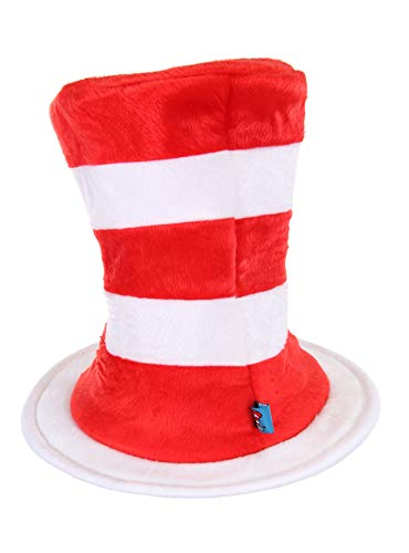 elope Dr. Seuss Cat in the Hat Deluxe Velboa Hat by elope (Image #2)'