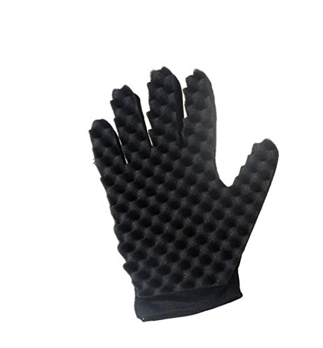 Coohole Curl Hair Sponge Gloves for Barbers Wave Twist Brush Gloves Styling Tool For Curly Hair Styling (Right) by Coohole (Image #1)