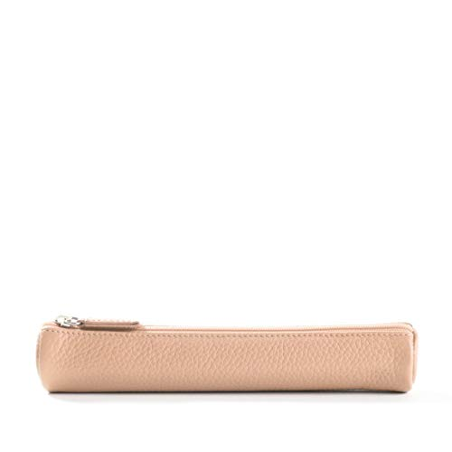 (Small Pencil Case - Full Grain Leather Leather - Rose (pink))