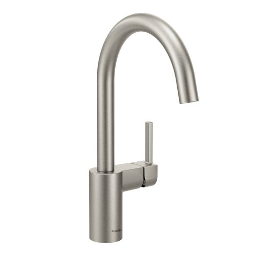 (Moen 7365SRS Align One-Handle High Arc Kitchen Faucet, Spot Resist Stainless)