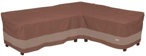 Duck Covers USC10685 Ultimate L-Shape Sectional Lounge Set Cover-Right, Mocha Cappuccino