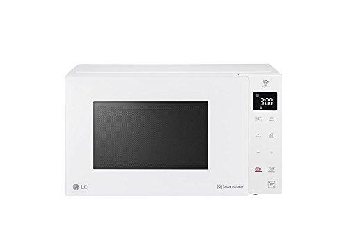 LG MH6535GDH - Microondas Grill Smart Inverter, Microondas 1000 W, Grill 900 W y 25 l de Capacidad (476 x 272 x 388 mm), color blanco