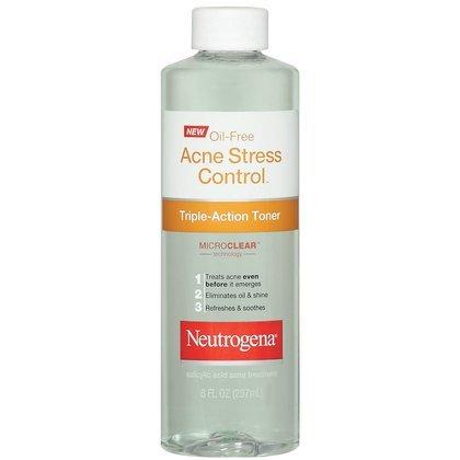 Neutrogena Oil-Free Acne Stress Control Triple-Action Toner-8 oz (Pack of 4)
