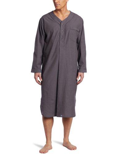 Majestic International Men's Basics Night Shirt, Charcoal, Large/X-Large by Majestic International