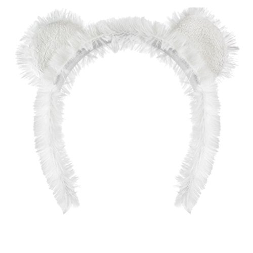 Polar Bear Ears Headband Costume Accessory - Polar Bear Head Costume