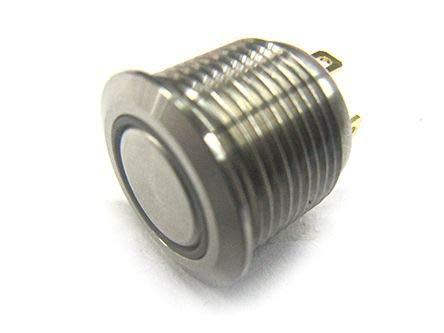 RS PRO 押しボタンスイッチ 2 A モーメンタリ パネルマウント 赤 単極単投 16 (Dia.)mm IP67 20個入 1759227