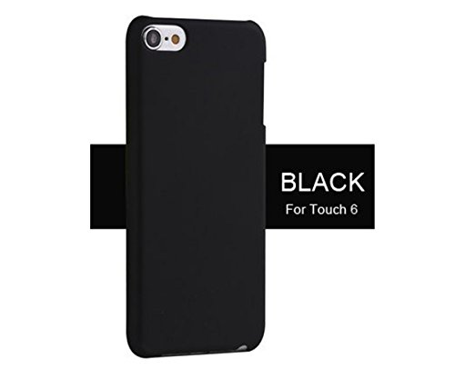 iPod touch 5 Case, iPod touch 6 Case, TopACE Superior Quality Extremely Light Super Slim Shell Cover for Apple iPod Touch 5th 6th Generation (Black) - Ipod 5th Generation Black Case