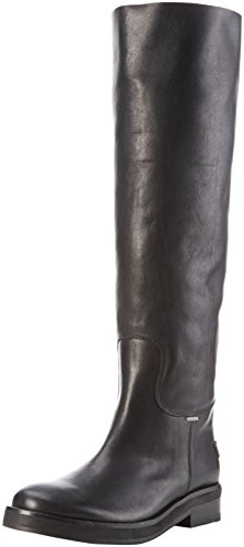 Arricciati Farah 5cm High Shabbies Sole Black 3 Black Amsterdam Shabbies Stivali Heel Nero Boot 45cm Donna qyvcUtv7Wn