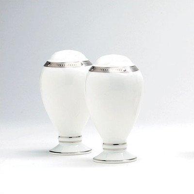 - Noritake Rochelle Platinum 3-3/4-inch Salt & Pepper Shakers