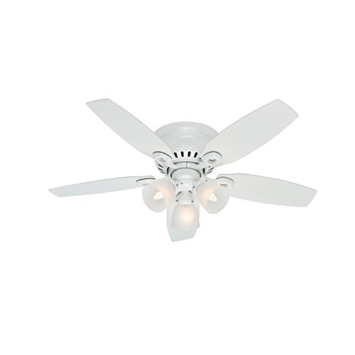 Hunter Fan 46'' Snow White Finish Ceiling Fan with Clear Frosted Glass Light Kit (Certified Refurbished) by Hunter Fan Company (Image #5)'
