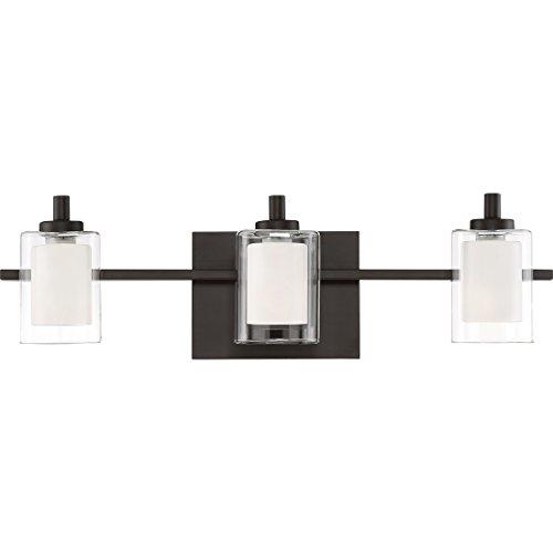 Quoizel KLT8603WTLED Bath Kolt, 3 light, Western Bronze - Quoizel Bronze Bathroom Lights