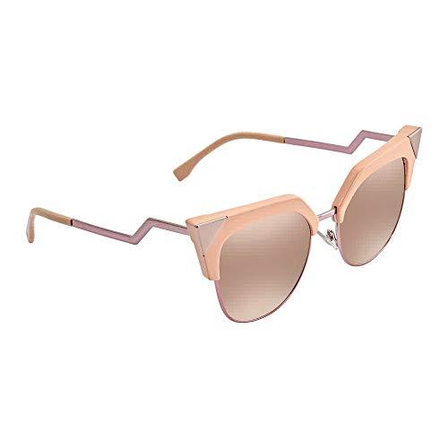 Fendi Women's Iridia Corner Accent Sunglasses, Pink/Rose Gold, One ()
