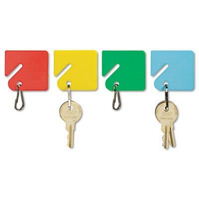 SteelMaster Slotted Rack Key Tags, Plastic, 1-1/2