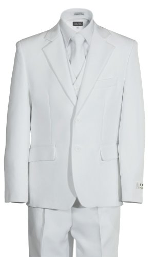 Boys 2 Button First Holy Communion Suit - White (Boys 7) - Holy Communion Suits