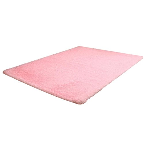 """Dining Room Bedroom Non-slip Rugs, Owill Home Fluffy Rugs Anti-Skid Shaggy Area Rug Carpet Floor Mat 31.5""""x47.2"""" (Hot Pink)"""