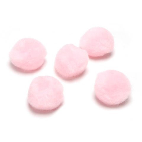 Darice DIY Crafts Acrylic Pom Poms Baby Pink 1 Inch 40 Pieces (3-Pack) 10177-21 ()