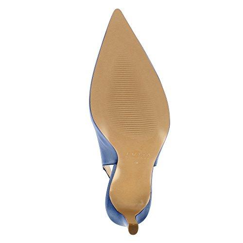 754df11ae02522 Natalia Damen Sling Pumps Glattleder blau 38  Amazon.de  Schuhe    Handtaschen
