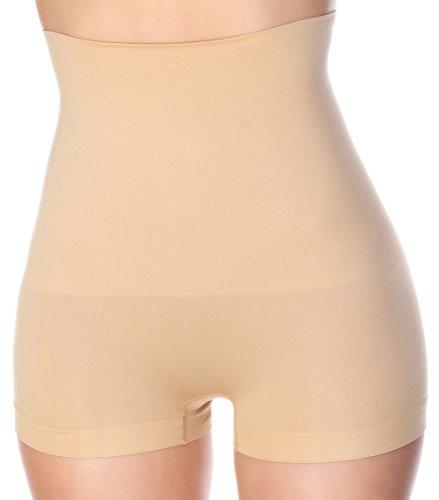 0984c5031a La Reve Womens Hi-Waist Boyshort Shapewear - Body Shaper Panty