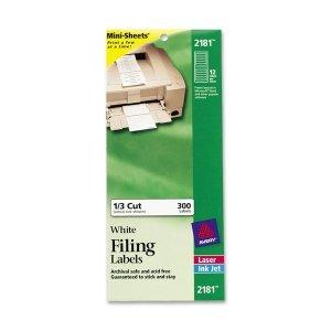 (Avery File Folder Labels on Mini-Sheets)