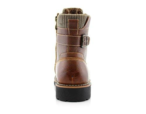 Mens MPX508571 Brady Top Brown Boots Fur Combat Polar High Motorcycle Classic Casual Fox Lined tAfTnTqEw