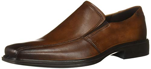 ECCO Men's Minneapolis Bike Toe Slip On Loafer, Amber, 45 M EU (11-11.5 US)