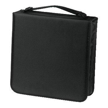 HAMA CD Wallet Nylon Holds 208 Black