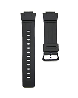 16mm TIMEWHEEL Replacement Black Watch Band Strap fits Casio G Shock G100 G101 G2110 G2300 G2400 & More by Timewheel