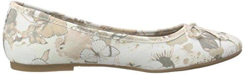 s.Oliver Damen 22123 Geschlossene Ballerinas Beige (BEIGE FLOWER 407)