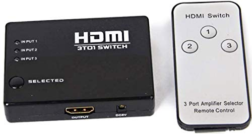 Infallible Deals InfCloud Intelligent HDMI Switch Splitter Switcher Box 3-Port 3 in 1 Out Monitor Switch Supports 3D Full HD 1080p High Speed with IR Remote Control (B07R3QPY4R) Amazon Price History, Amazon Price Tracker