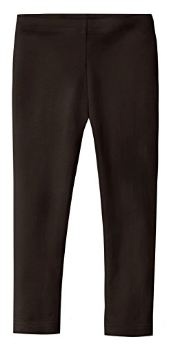 Six Chocolate (City Threads Girls' Leggings 100% Cotton For School or Play Perfect For Sensitive Skin or SPD Sensory Friendly Clothing, Chocolate, 6)