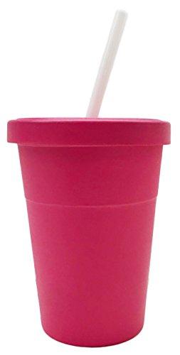 Vasos de viaje reutilizables de fibra de bambú (Rosa)