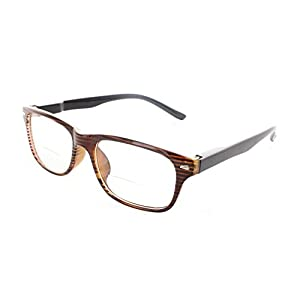 Wayfarer Bifocal Reading Glasses Readers with Spring Hinges for Men and Women