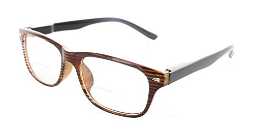Trendy Bifocal Reading Glasses Readers with Spring Hinges for Men and - Clear Readers Bifocal