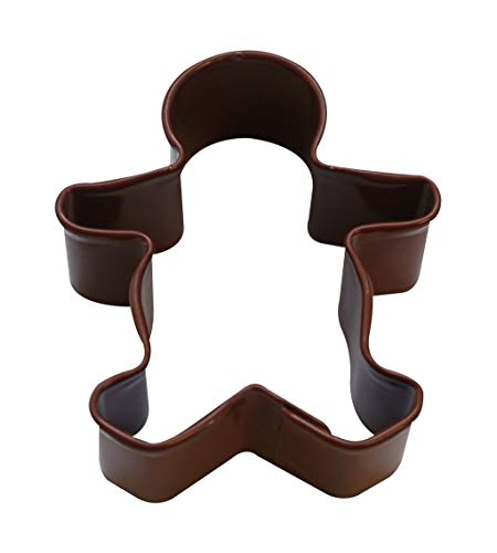 Mini Gingerbread Boy Poly-Resin Coated Cookie Cutter Brown