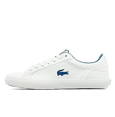 292f62757 Lacoste Lerond LPF SCM White Dark Blue Leather Mens (UK 9 USA 10 EUR ...