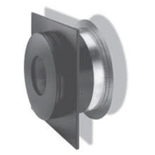 Chimney 69831 8 in. Dura-Vent Dura-plus Wall Thimble- Galvanized Steel Painted Black-with Trim (Plus Galvanized Chimney Pipe)