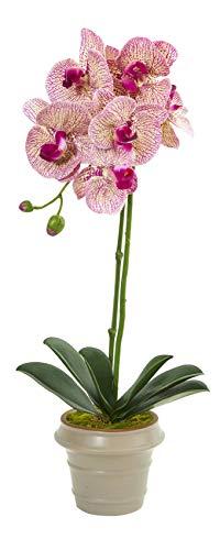 Artificial Flowers -20 Inch Designer Phalaenopsis Orchid Arrangement Silk Flowers