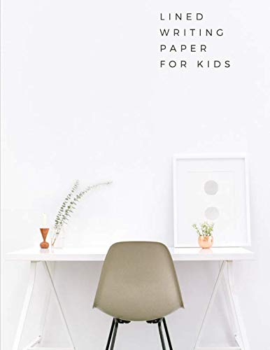 lined writing paper for kids: Notebook lined large : dotted line notebook/ line notebook for kid/ notebook lined and dotted/dotted notebook for ... kids/k lined paper( writing paper with lines)
