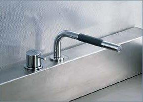 Vola Faucets 500T1 Vola 1 Handle Deck Mixer W Handspray Chrome (Vola Mixer)